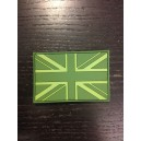Patch Rubber Flage UK England Vert
