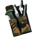 Set de couverts pliants fox + couteau Forest Military camping