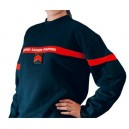 Sweat shirt JSP bande rouge T. 16