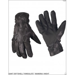 GANTS SOFTSHELL THINSULATE TRES CHAUDS